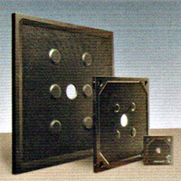 Edwards and Jones Rubber Steel Filter Plates