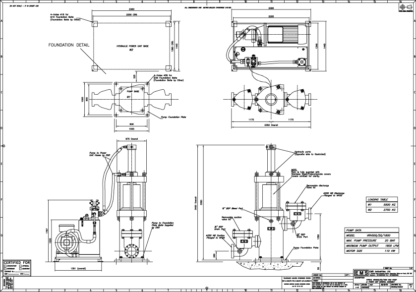 Ramp Pump : EMS Ram Pump Model VRH500