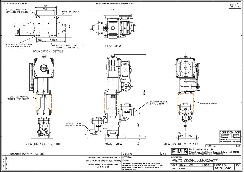 Ram Pump: EMS Ram Pump Model VRM175