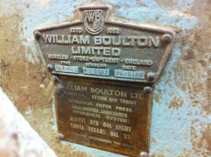 William Boulton Ltd Name Plate