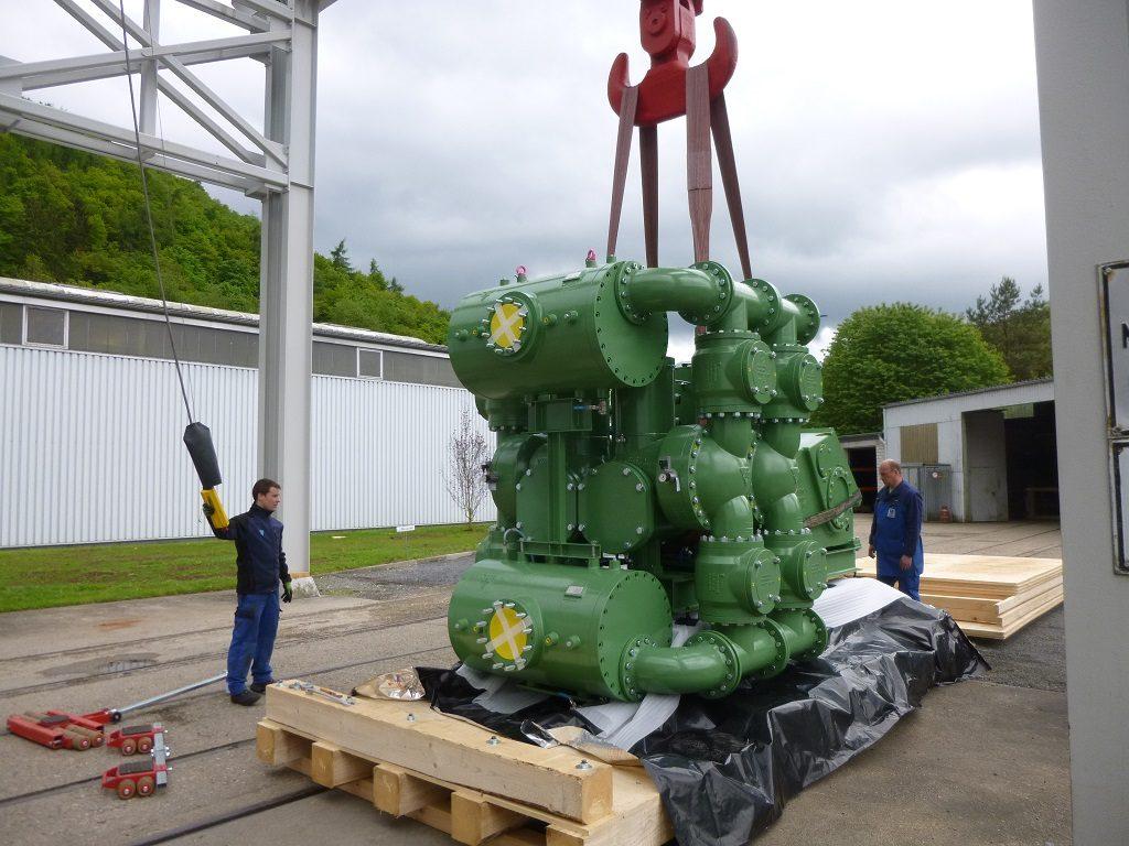 Piston Diaphragm Pump Being Crated for Shipment