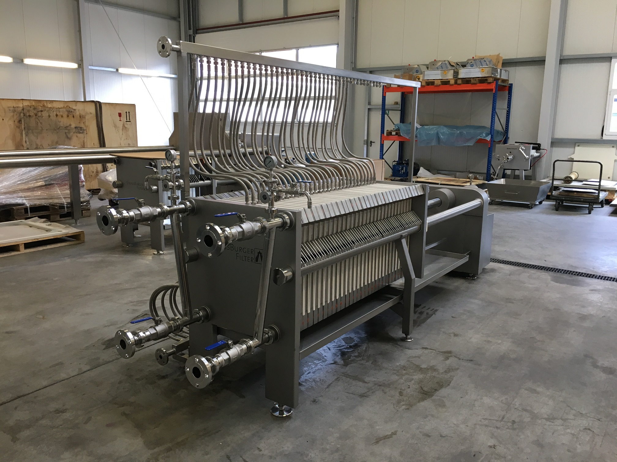 Custom Stainless Steel Filter Press for Pharmaceuticals with Steam Heated Plates